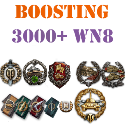100 battles 3000+ wn8 boost