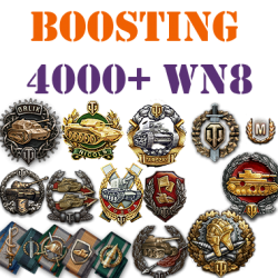 100 battles 4000+ wn8 boost