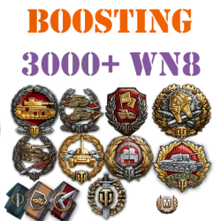 500 battles 3000+ wn8 boost