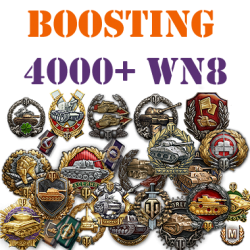 500 battles 4000+ wn8 boost