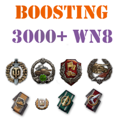 50 battles 3000+ wn8 boost