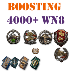 50 battles 4000+ wn8 boost