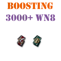 5 battles 3000+ wn8 boost