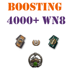 5 battles 4000+ wn8 boost
