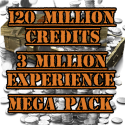 120 million credits mega pack