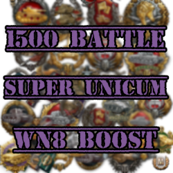 1500 battle super unicum wn8 boost